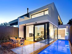 Vaucluse Street, Brighton, Vic View property details and sold price of Vaucluse Street & other properties in Brighton, Vic Townhouse Designs, Duplex House Design, Duplex House Plans, Small House Plans, House Architecture Styles, Modern Architecture, Brighton, Minimalist House Design, Small Pools