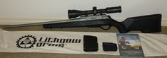 Lithgow LA 102 in Win. Polymer stocked version with Titanium Cerakote finish on barelled action. Comes with factory 3 shot mag, cloth bag and manual. Bolt Action Rifle, Cloth Bags, Metal Working, Manual, Guns, Auction, Magazine, Steel, Weapons Guns