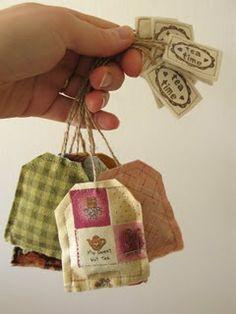 Lavendar Teabag sachets -- tuck in your dresser drawers!