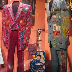 """Vintage Nudie suits - Ukraine-born American tailor Nudie Cohn designed decorative rhinestone-covered suits, known popularly as """"Nudie Suits"""", and other elaborate outfits for some of the most famous celebrities of his era (late 1940s - 1970s)."""