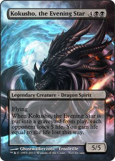 Also known as Kokusho, the so-called-bannable-in-EDH star 3 of 5 Kamigawa Legendary Dragons