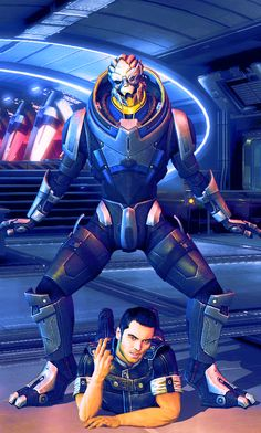I can just hear shepherd dying of laughter in the background lol - Garrus & Kaidan Gangnam Style. Source: mandyshepard.tumblr.com