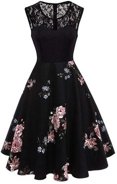 To find out about the Plus Contrast Lace Floral Print Dress at SHEIN, part of our latest Plus Size Dresses ready to shop online today! Elegant Dresses, Pretty Dresses, Vintage Dresses, Beautiful Dresses, Vestidos Vintage, Beautiful Shoes, Grad Dresses, Dance Dresses, Homecoming Dresses