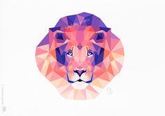 "TinyKiwi ""Lion"" https://www.etsy.com/listing/203566368/lion-lion-king-geometric-print-animal"
