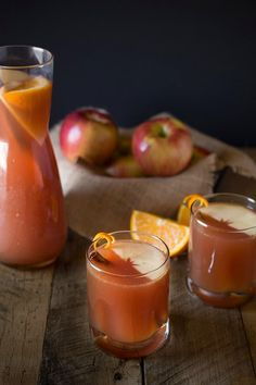 Sparkling apple punch
