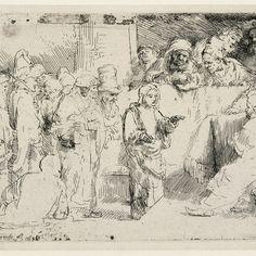 Rembrandt, Christus onder de schriftgeleerden ( B 65), 1652. Teylers Museum