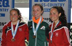 La coureuse des Patriotes, Sarah Bergeron-Larouche est la nouvelel championne québécoise universitaire de cross-country. (Photo Pierre Morin...