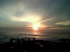 The peer at sunrise, Uvongo, South Africa