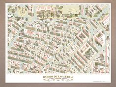 cartography: the art of mapmaking Map of the Barrio de las Letras, Madrid, by cartoonist and illustrator Andrés LozanoMap of the Barrio de las Letras, Madrid, by cartoonist and illustrator Andrés Lozano