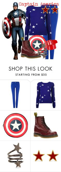 """""""Captain America"""" by rebecca-rogers24 ❤ liked on Polyvore featuring Polo Ralph Lauren, Chinti and Parker, Dr. Martens, Siena Jewelry, George & Laurel and Miu Miu"""