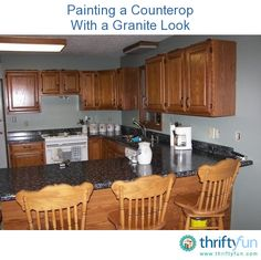 Painting your old laminate countertops gives your kitchen a brand new look without the expense of buying new countertops! Look below first hand experience and step by step instructions for painting laminate countertops.