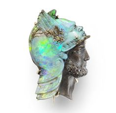 Opal cameo brooch, late 19th century | A Short History: The Delicate Art of Carved Opal Jewels | The Jewelry Loupe