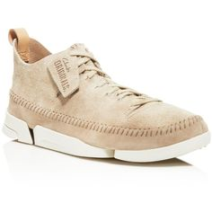 Clarks Trigenic Flex Sneakers (1.964.700 IDR) ❤ liked on Polyvore featuring men's fashion, men's shoes, men's sneakers, sand suede, clarks mens shoes, mens leather shoes and mens leather sneakers