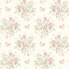 522-30701 Pink Floral Bouquet - Fairwinds Studio Wallpaper