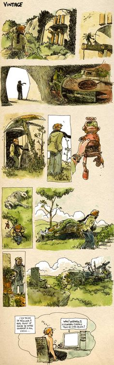 """Boulet, one of my favorite french comics artist! - his english language blog: english.bouletcorp.com - In French: """"it's sad to realize how old has turn the world of your childwood..."""""""