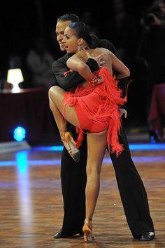 Vítězný pár Grand Slam Andrey Zaytsev a Anna Kuzminskaya z Ruska