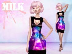 Galaxy dress at MILK • Sims 4 Updates