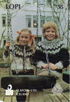 Childrens KNITTING PATTERN pdf icelandic cardigan by Hobohooks