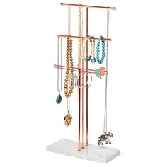Delice N Delight Jewelry Stand Organizer - Perfect for Long Necklaces/Earrings/Bracelet Storage - Accessories Holder and Jewel Storage American Express Gold, Bracelet Storage, Evening Gowns Online, Silk Evening Gown, Garden Workshops, Dog Food Brands, Cool Inventions, Jewelry Stand, Fashion Bracelets