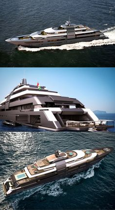 New concept-mega-yacht of 90 meters by #Zuccon Super #Yacht #Design
