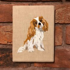 Your place to buy and sell all things handmade Hessian Fabric, Linen Fabric, Portrait Embroidery, Embroidered Gifts, King Charles Spaniel, Pet Portraits, Canvas Frame, Staple Gun, The Incredibles
