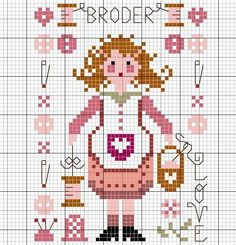 0 point de croix femme broderie - cross stitch embroidery woman
