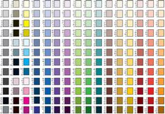 Fondant color mixing chart. Good resource!