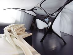 zaha hadid: une architecture at the chanel mobile art pavilion #organicarchitecture #pavilionarchitecture