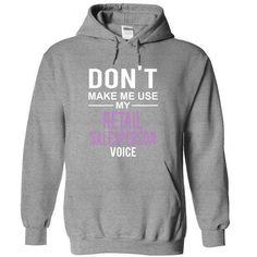 dont make me use RETAIL SALESPERSON  voice T Shirts, Hoodies Sweatshirts. Check price ==► http://store.customtshirts.xyz/go.php?u=https://www.sunfrog.com/Funny/dont-make-me-use-RETAIL-SALESPERSON-voice-1587-SportsGrey-10675935-Hoodie.html?41382