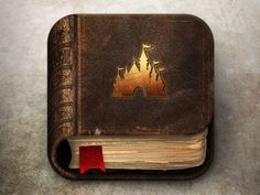 I love the texture of the book. It looks decrepit like its been kept away or over used. The castle gives just enough detail without using words. The pages look extremely realistic.