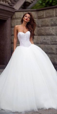 24 Lace Ball Gown Wedding Dresses You Love ❤️ lace ball gown wedding dresses sweetheart floral top tulle skirt ariamo bridal ❤️ Full gallery: https://weddingdressesguide.com/lace-ball-gown-wedding-dresses/