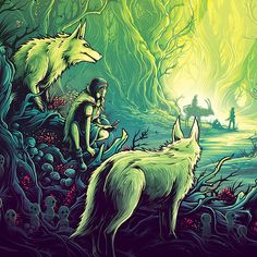 A print based on Princess Mononoke for Spoke Art and Available now from Spoke Art. A print based on Nausicaa Valley of the Wind for Spoke Art and their show 'My Neighbour Hayao' in Hawaii Available now from Spoke Art . Dan Mumford, Spoke Art, The Dark Knight Trilogy, Dark Ink, Bojack Horseman, Nothing To Fear, Horror Icons, Star Wars Episodes, Avengers Infinity War
