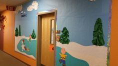 The latest bulletin board I did this morning.  :-)  The kiddos will cover it in snowflakes and snow stories.  Tons of fun!