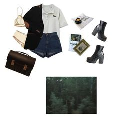 """""""Untitled #2086"""" by paper-freckles ❤ liked on Polyvore featuring Vera Wang and American Apparel"""