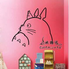 livraison gratuite gros et de détail de bande dessinée totoro stickers muraux stickers muraux revêtements muraux décoration à la maison