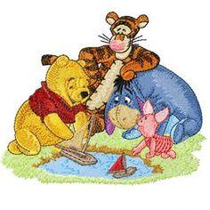 Winnie Pooh, Tigger, Eeyore and Piglet