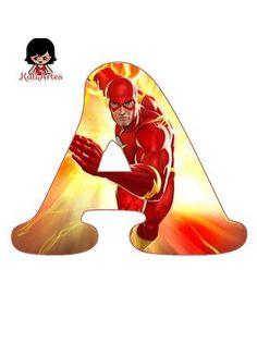 Alfabeto de Flash. The Flash Cartoon, Cartoon Letters, Flash Design, Superhero Birthday Party, Birthday Ideas, Superhero Cake, Class Decoration, 14th Birthday, Party Packs