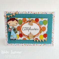 Latina Crafter - Sellos en Español: Desde el Taller de Hilda: Tarjetas de Cumpleaños