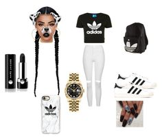 """""""Untitled #15"""" by taychaeugene ❤ liked on Polyvore featuring Lime Crime, adidas Originals, Topshop, Casetify, adidas, Marc Jacobs, Rolex and Delfina Delettrez"""