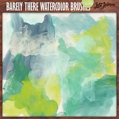 Barely There Watercolor Brushes