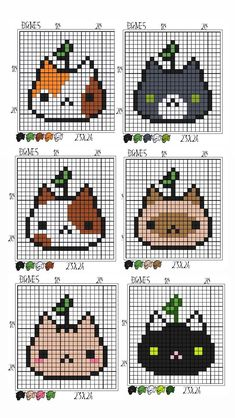 Easy Perler Bead Patterns, Melty Bead Patterns, Diy Perler Beads, Perler Bead Art, Perler Bead Templates, Cross Stitching, Cross Stitch Embroidery, Embroidery Patterns, Cross Stitch Patterns