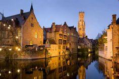 The Belfry in Bruges, Belgium.  SOOO pretty in person!!