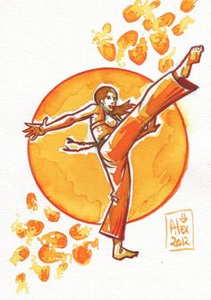 Encres : Capoeira - 195 [ #capoeira #ink #painting ]