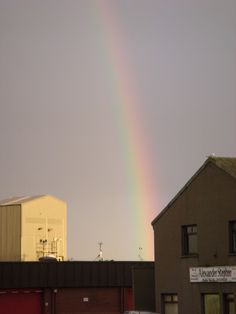 Stories in Stitch...: A rainbow in the Broch...