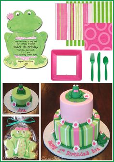 Princess and the Frog Party Ideas Leap Year Birthday, Frog Birthday Party, Birthday Cake Girls, First Birthday Parties, First Birthdays, Birthday Ideas, 2nd Birthday, Frog Baby Showers, Frog Cakes