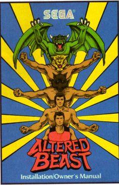 Sega's Altered Beast m Classic Video Games, Retro Video Games, Retro Games, Sega Genesis, Altered Beast, Playstation, Video Game Posters, Video Game Music, Nintendo