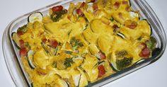 Zapiekanki - Zapiekanka makaronowa z sosem curry