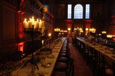 This is how I Imagine the castle ambiance of the trestle tables and lighting during feasting in the great hall might feel like in 13th c.