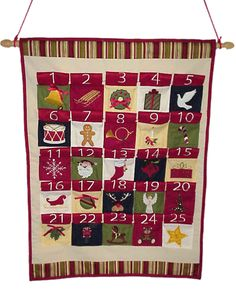 fabric and cloth Advent Calendars are embroidered and countdown to Christmas