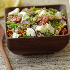 A good source of fiber, Brie Couscous Salad is a healthy and flavorful dish for lunch or dinner! #HealthyEating